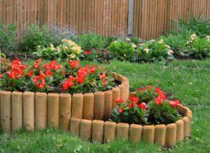 Красивые заборчики и ограждения для клумб и цветников